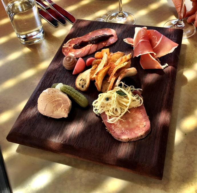 Charcuterie Board Which Included Wild Boar